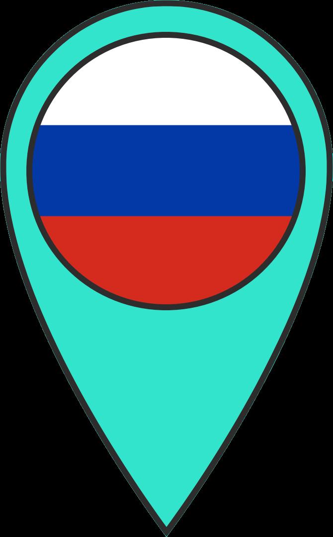 Marker Location Russia